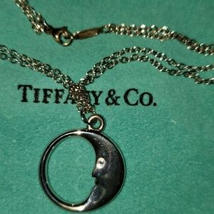 TIFFANY LARGE CHARM MAN IN THE MOON NECKLACE